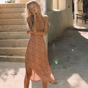 faithfull the brand katergo midi dress XS